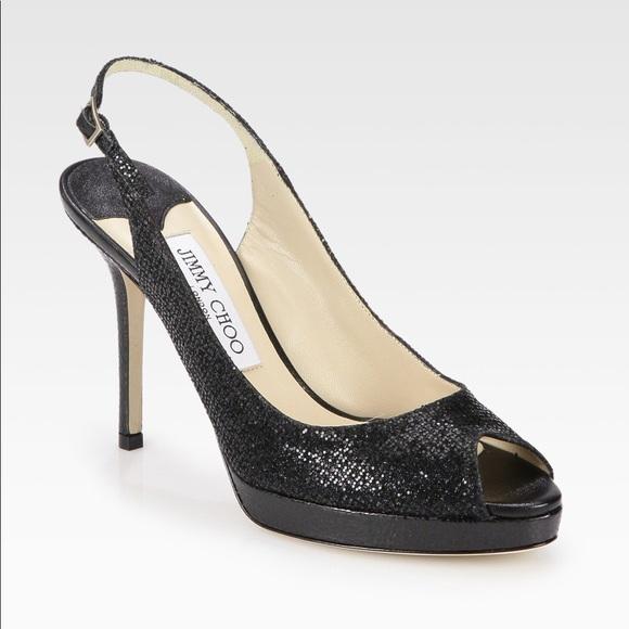 jimmy choo shoes clue glitter slingback poshmark rh poshmark com